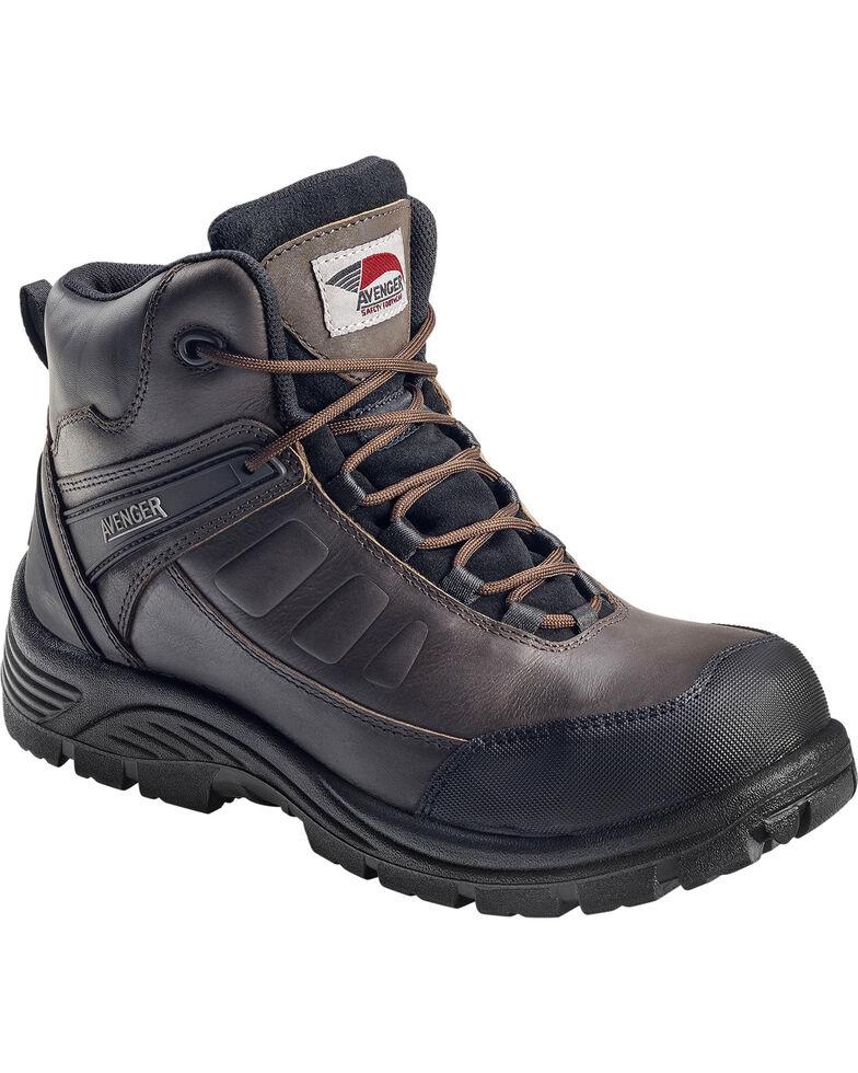 Avenger Men's Lace Up Composite Toe Work Boots, Brown, hi-res