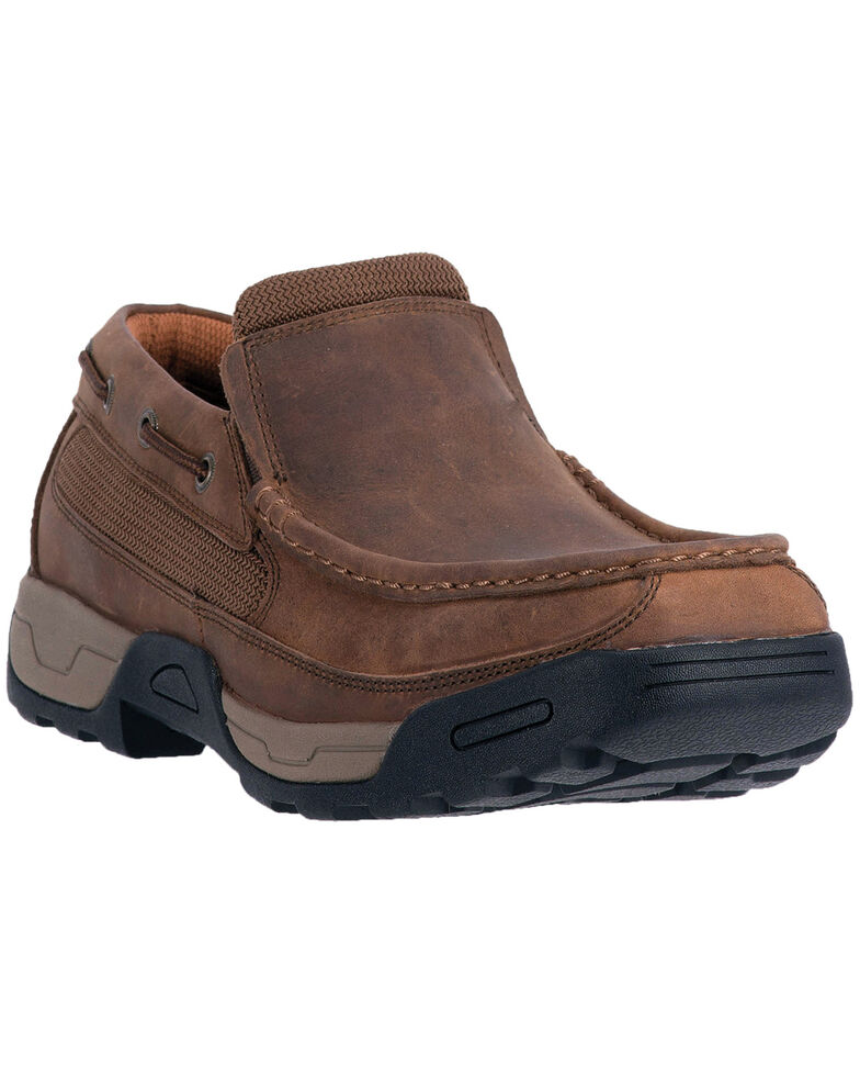 Dan Post Men's Armstrong Steel Toe Work Shoes, Brown, hi-res