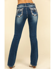 "Grace in LA Women's Medium Paisley 34"" Bootcut Jeans, Blue, hi-res"