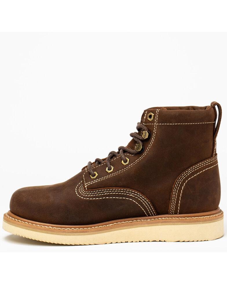 "Hawx Men's 6"" Lacer Work Boots - Nano Composite Toe, Brown, hi-res"