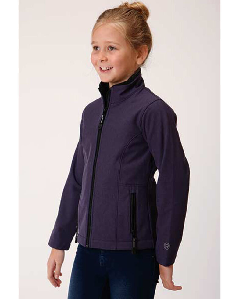Roper Girls' Soft Shell Fleece Jacket , Purple, hi-res