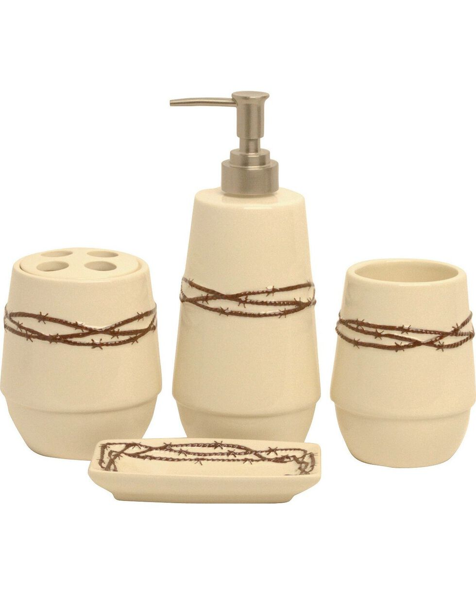 HiEnd Accents Barbed Wire Bathroom Set, Cream, hi-res