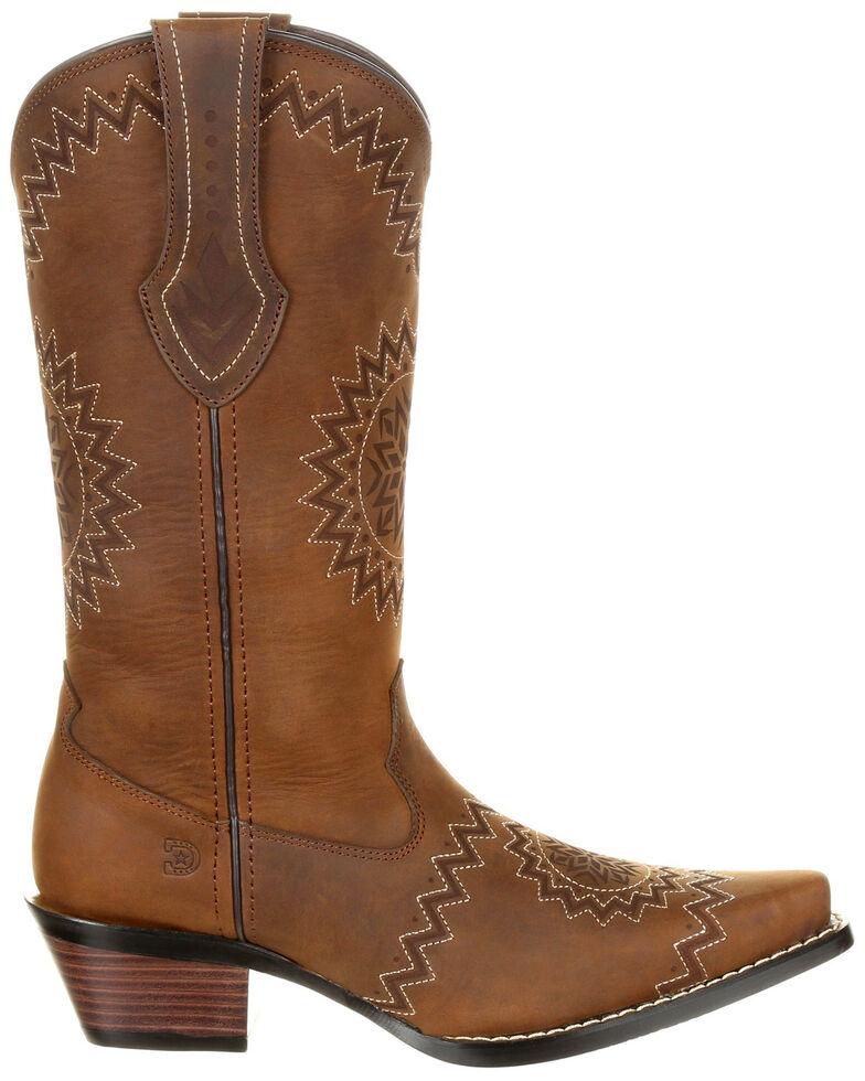Durango Women's Crush Laser Etch Western Boots - Snip Toe, Pecan, hi-res
