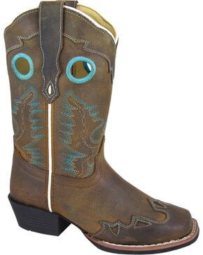 Smoky Mountain Youth Girls' Eldorado Western Boots - Square Toe, Brown, hi-res
