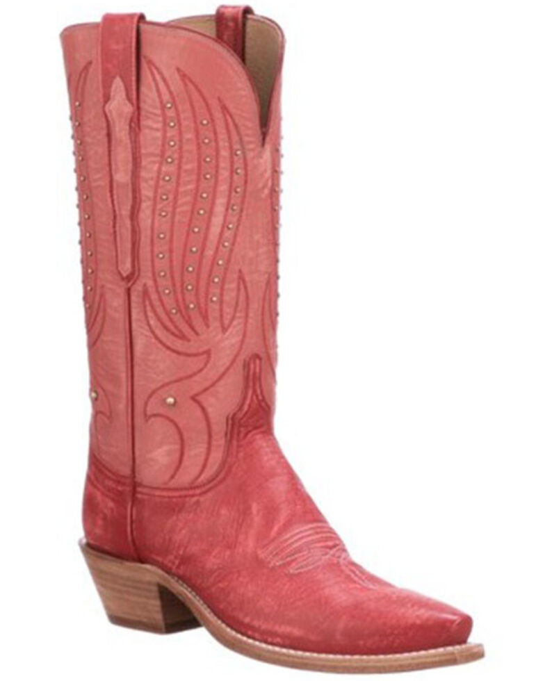 Lucchese Women's Red Camilla Western Boots - Snip Toe, Red, hi-res