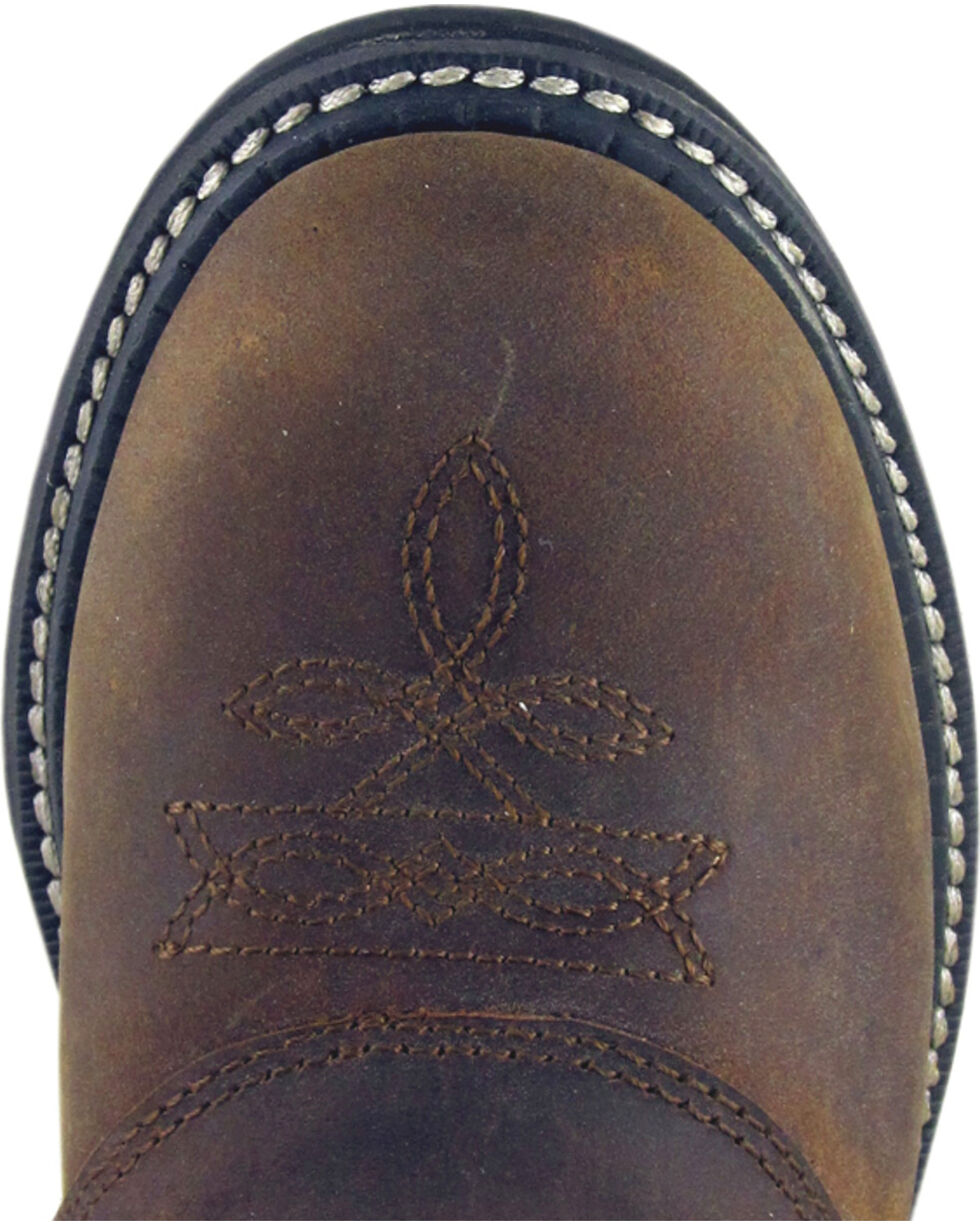 Smoky Mountain Youth Boys' Buffalo Wellington Western Boots - Round Toe, Brown, hi-res