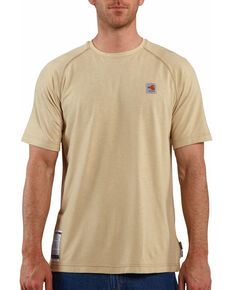 Carhartt Force Men's FR Short Sleeve T-Shirt, Beige/khaki, hi-res