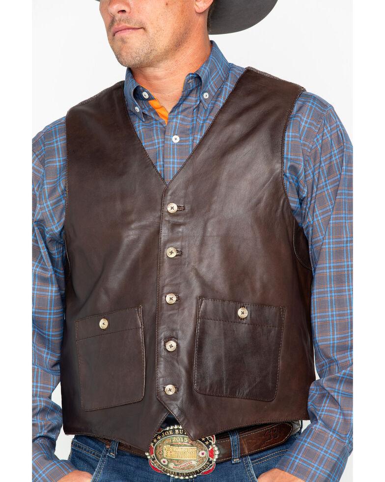 Outback Trading Co. Men's Wynard Button Pocket Vest , Brown, hi-res