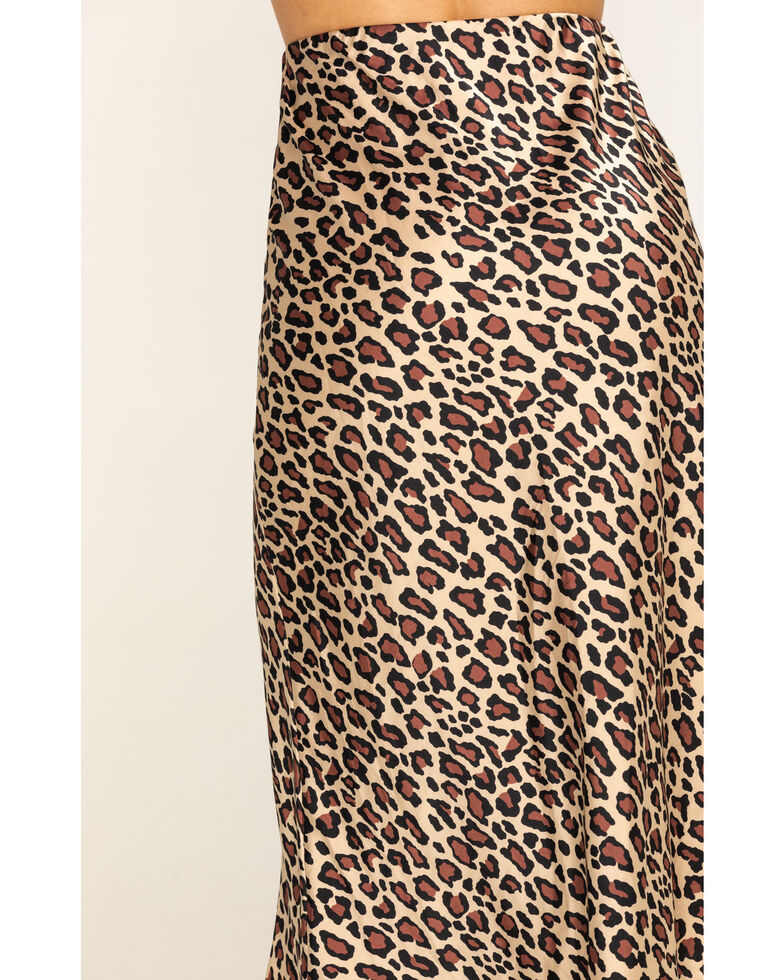 Show Me Your Mumu Women's Cheetah Fever Print Maci Skirt , Leopard, hi-res