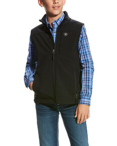 Ariat Boys' Vernon 2.0 Softshell Vest , Black, hi-res