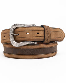 Cody James Men's Longhorn Croc Inlay Western Belt, Brown, hi-res