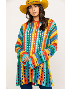 Show Me Your Mumu Women's Cruz Rainbow Tropic Knit Sweater, Multi, hi-res