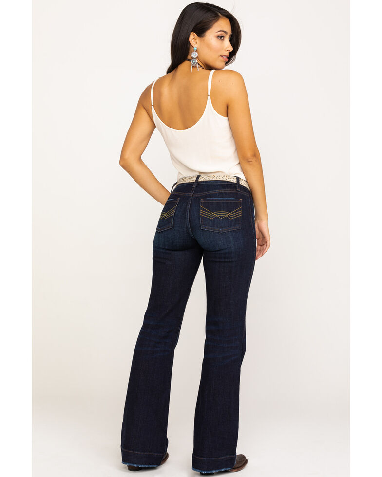 Idyllwind Women's Welt To Do Trousers Jeans, Blue, hi-res