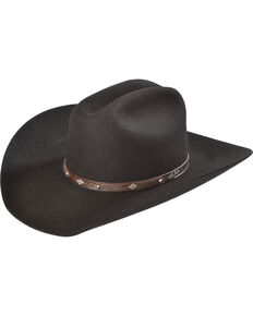 Larry Mahan Men's 3X Granger Cowboy Hat, Black, hi-res