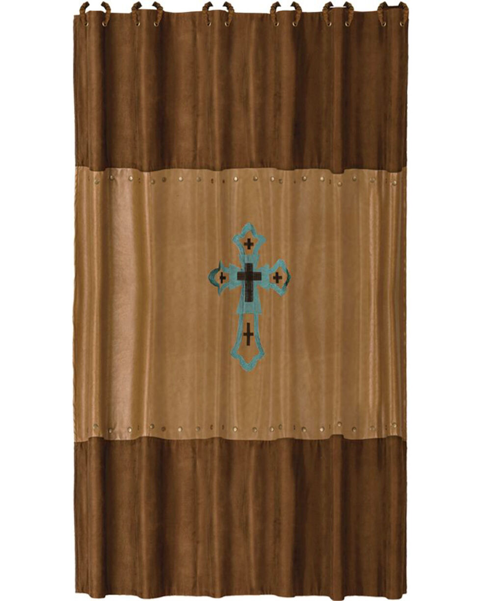 HiEnd Accents Las Cruces Embroidered  Shower Curtain, Multi, hi-res