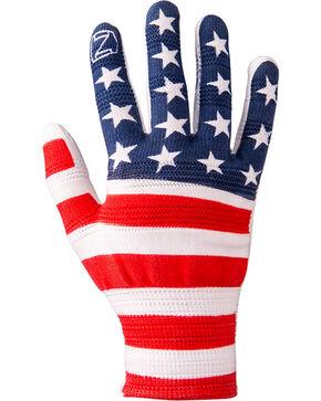 Noble Outfitters Men's True Flex American Flag Roping Gloves, Multi, hi-res