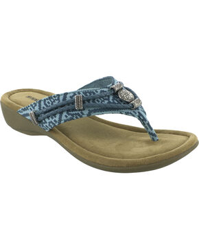 Minnetonka Women's Silverthorne Thong Sandals, Turquoise, hi-res