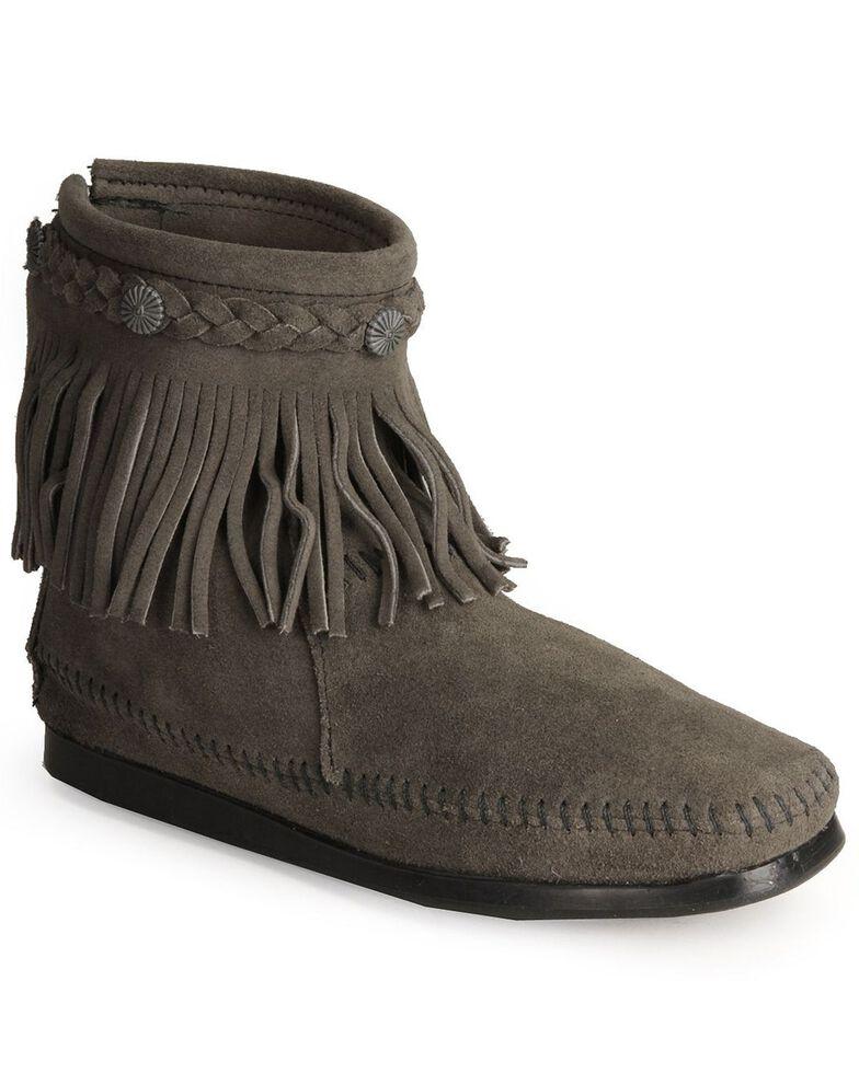 Minnetonka Women's Hi Top Back Zip Boots, Grey, hi-res