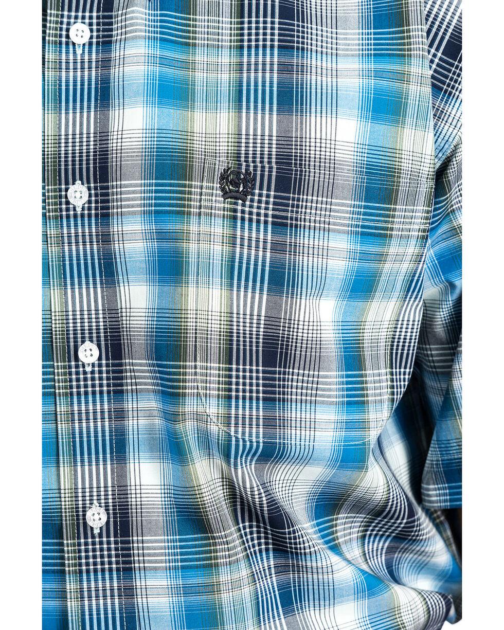 Cinch Men's Plaid Button Short Sleeve Western Shirt , Multi, hi-res