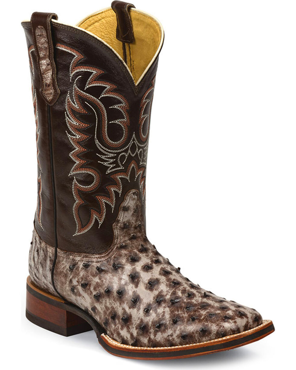 Nocona Men's Kango Tobac Tumbled Exotic Boots, Brown, hi-res