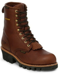 Chippewa Men's Waterproof Logger Work Boots, Briar, hi-res