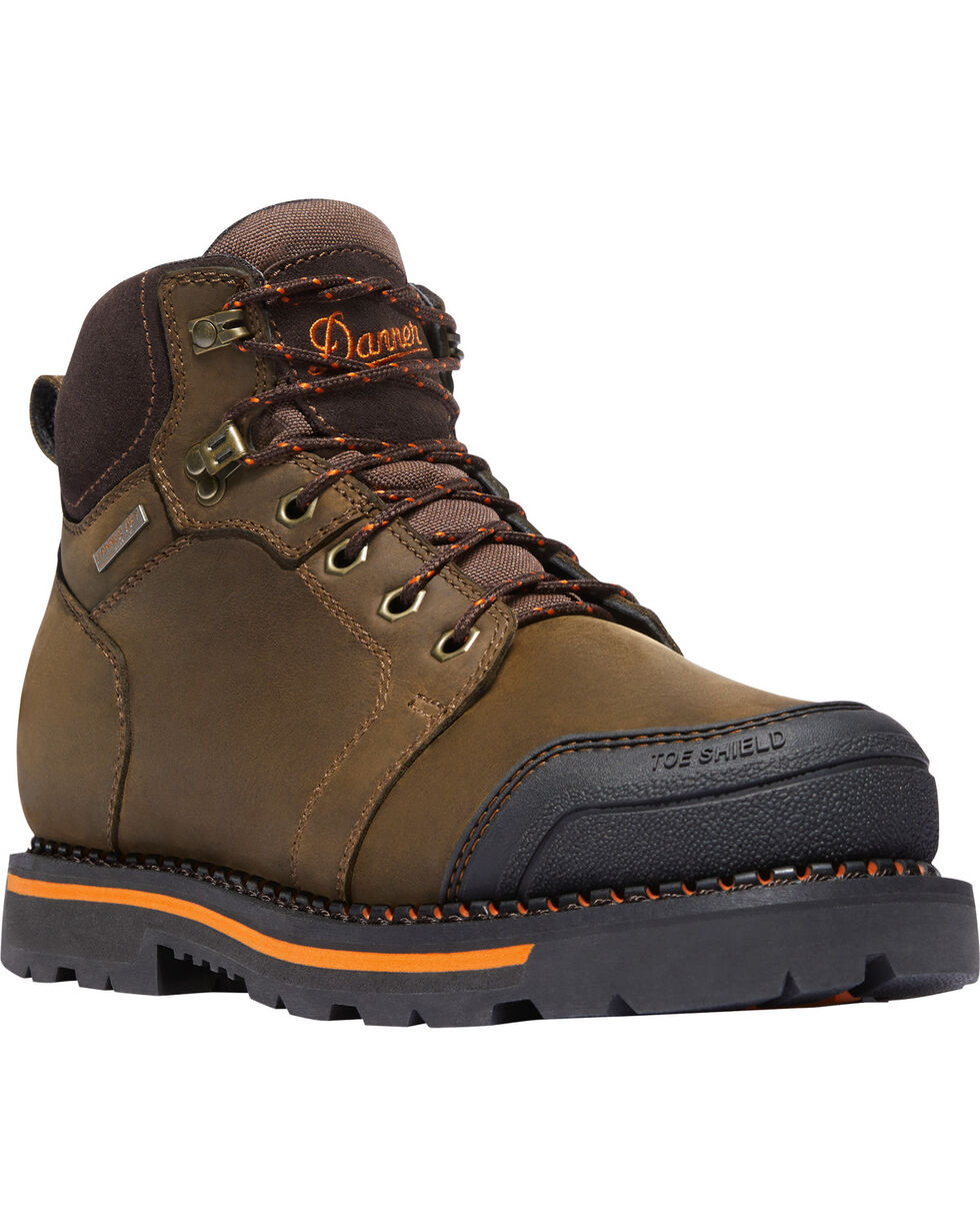 "Danner Men's Trakwelt 6"" Waterproof Work Boots - Round Toe, Brown, hi-res"