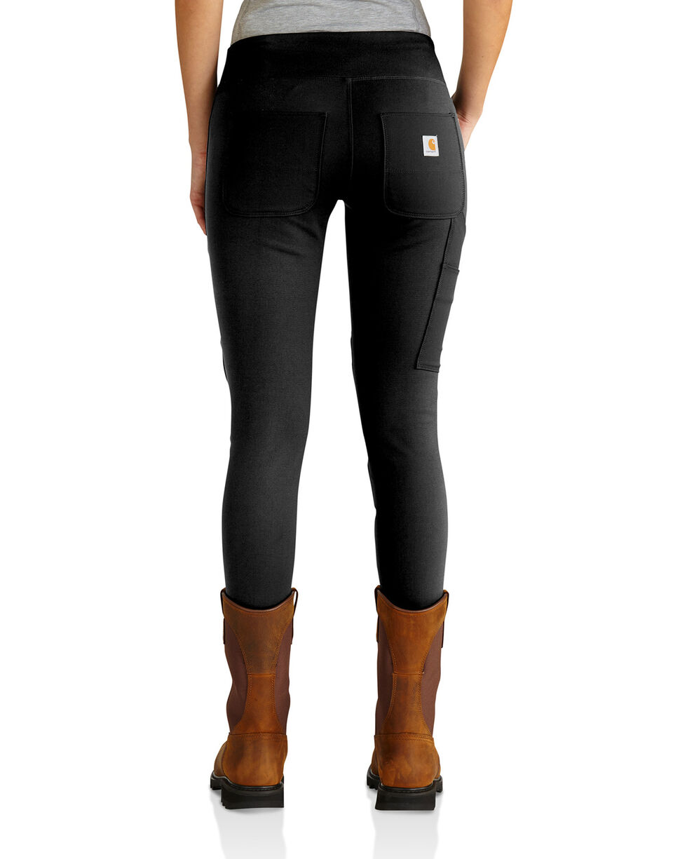 Carhartt Women's Black Force Utility Knit Leggings, Black, hi-res
