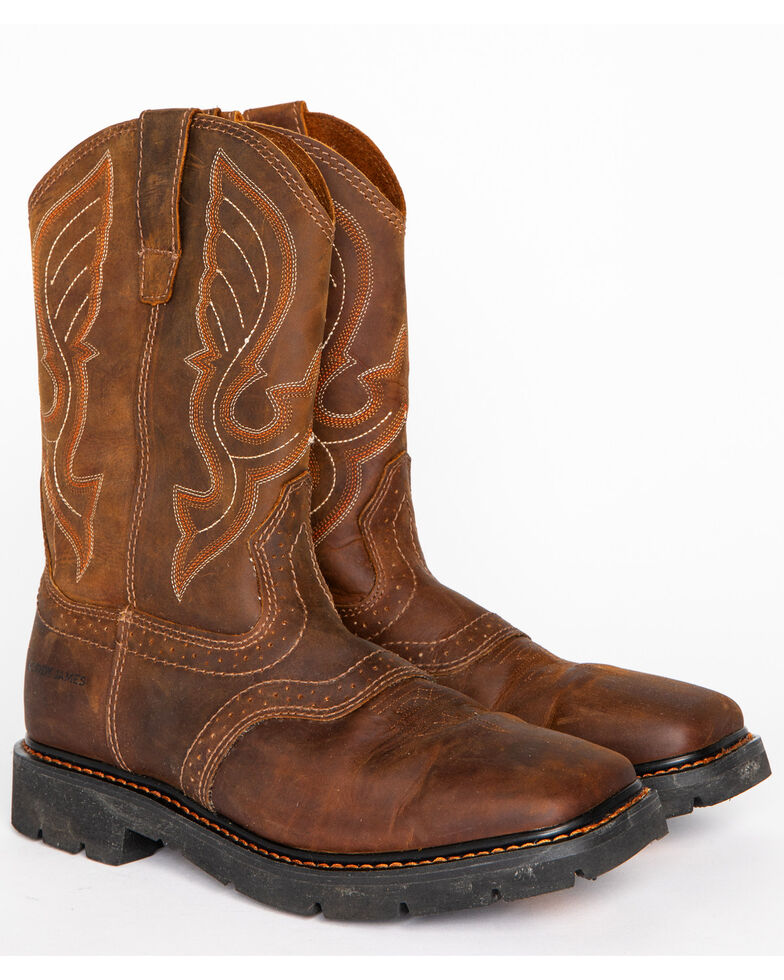 Cody James 174 Men S Broad Square Toe Western Work Boots