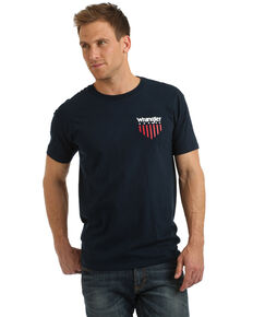 Wrangler Men's USA Shield Cactus Graphic T-Shirt , Navy, hi-res