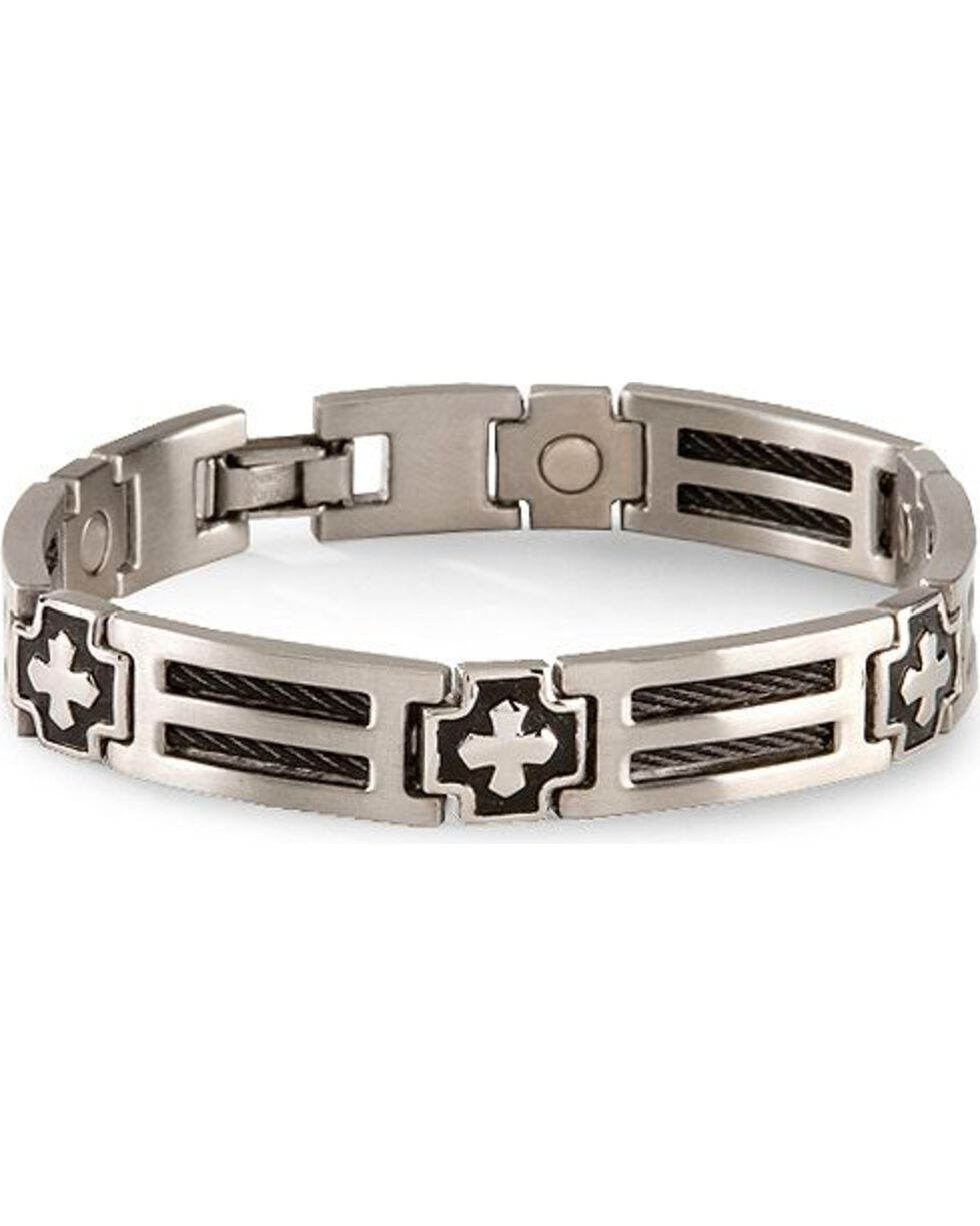 Sabona Cross Cable Magnetic Bracelet, Multi, hi-res