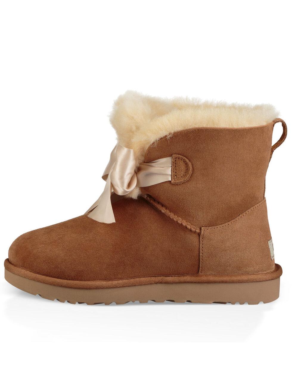 UGG Women's Chestnut Gita Bow Mini Boots - Round Toe, , hi-res