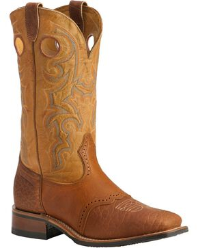 "Boulet Men's 13"" Saddle Vamp Wide Square Toe Boots, Sand, hi-res"