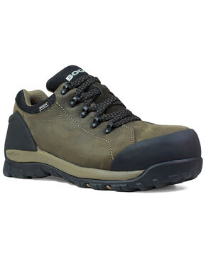 Bogs Men's Brown Foundation Waterproof Work Boots - Composite Toe, Brown, hi-res