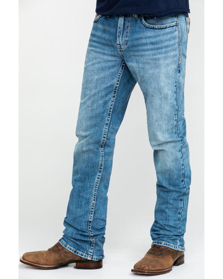Cody James Core Men's Clover Leaf Stretch Slim Straight Jeans , Blue, hi-res