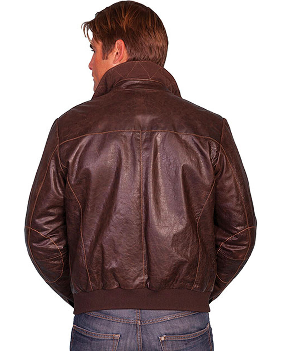 Scully Zip Front Four Pocket Leather Jacket, Brown, hi-res
