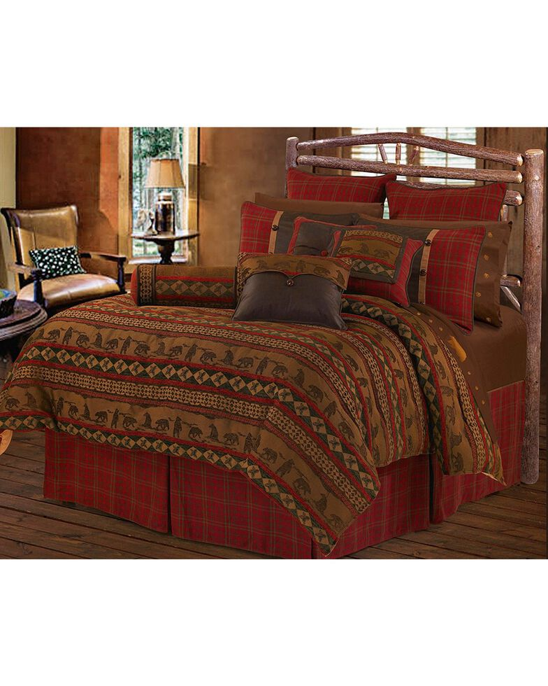 HiEnd Accents 5-Piece Full Cascade Lodge Comforter Set, Multi, hi-res