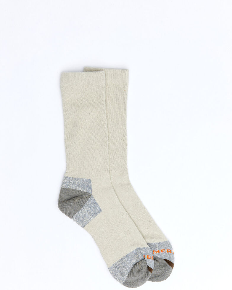Merrell Men's Black MOAB Crew Socks, Oatmeal, hi-res