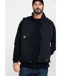 Ariat Men's Rebar Washed Dura Canvas Insulated Work Vest - Big & Tall , Black, hi-res