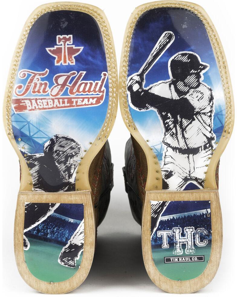 Tin Haul Men's Slugger Cowboy Boots - Square Toe, Tan, hi-res