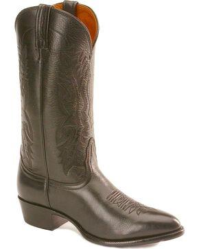 Nocona Men's Imperial Calf Skin Western Boots, Black, hi-res