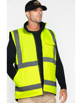 Hawx Men's Reversible Work Vest, Yellow, hi-res