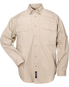 5.11 Tactical Long Sleeve Cotton Shirt - 3XL, Khaki, hi-res