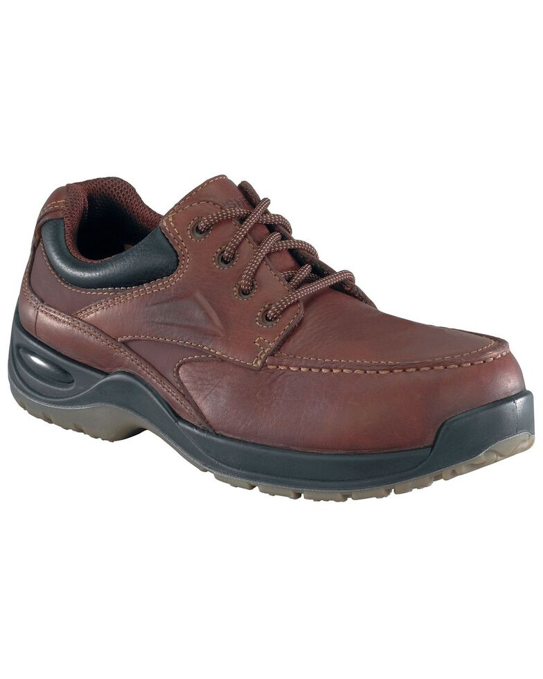 Florsheim Men's Rambler Lace-Up Oxford Shoes - Composite Toe, Brown, hi-res