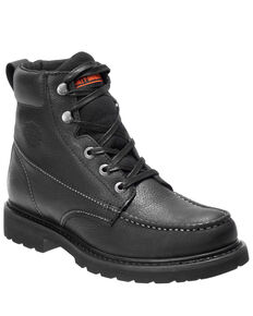 Harley Davidson Men's Markston Moto Boots - Moc Toe, Black, hi-res