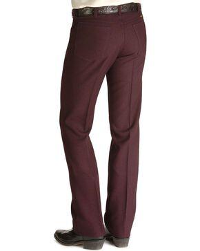 Wrangler Men's Wrancher Dress Jeans, Hthr Burg, hi-res