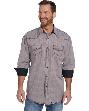Cowboy Up Men's Contrast Cuff Snap Shirt , Multi, hi-res