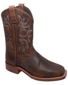 Ad Tec Men's Oiled Cowboy Boots - Square Toe, Brown, hi-res