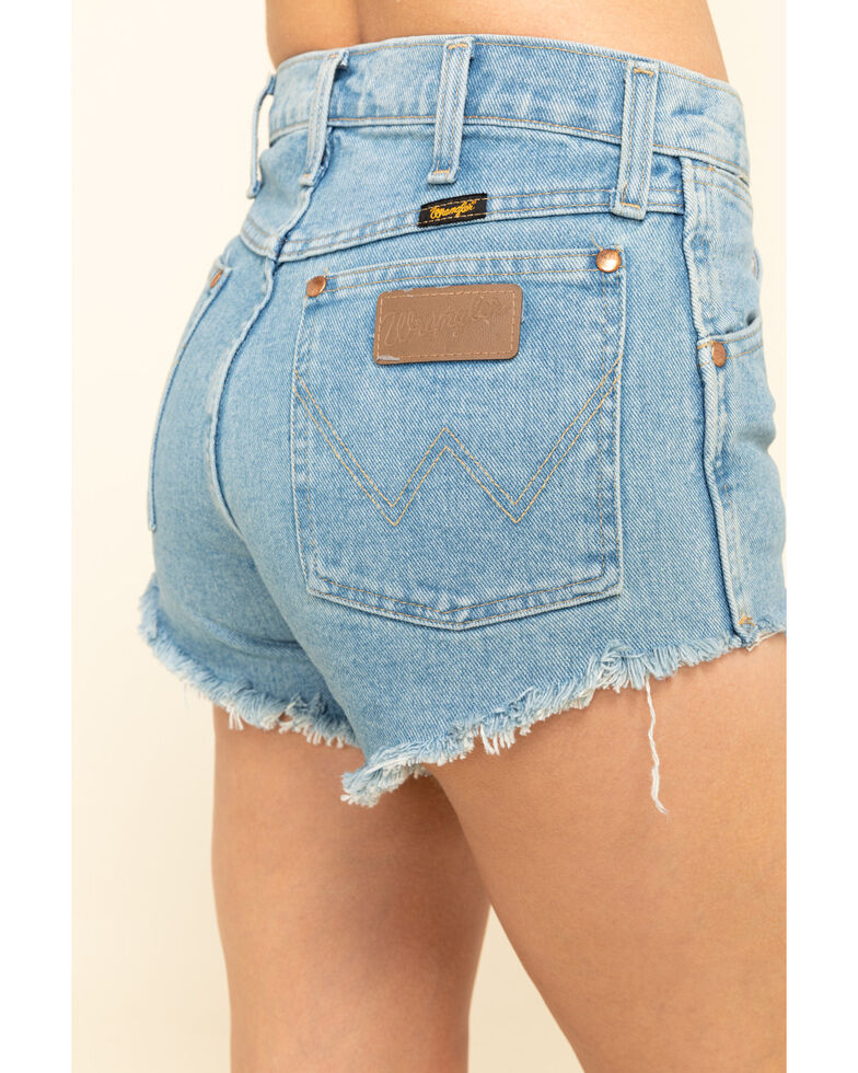 Wrangler Women's Vintage Antique Stone Wash Cutoff Reworked Shorts , Blue, hi-res
