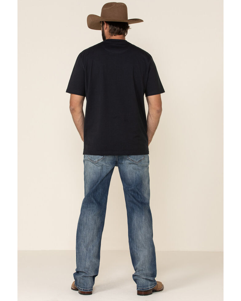 Rock & Roll Denim Men's Vintage 46 Light Double Barrel Stretch Relaxed Straight Jeans , Blue, hi-res