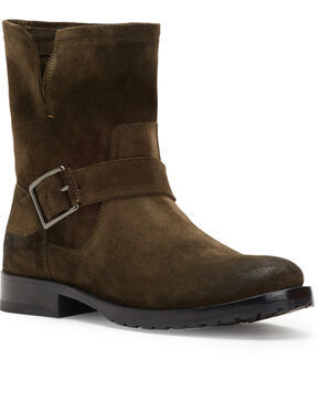 Frye Women's Brown Natalie Short Engineer Boots - Round Toe , Brown, hi-res